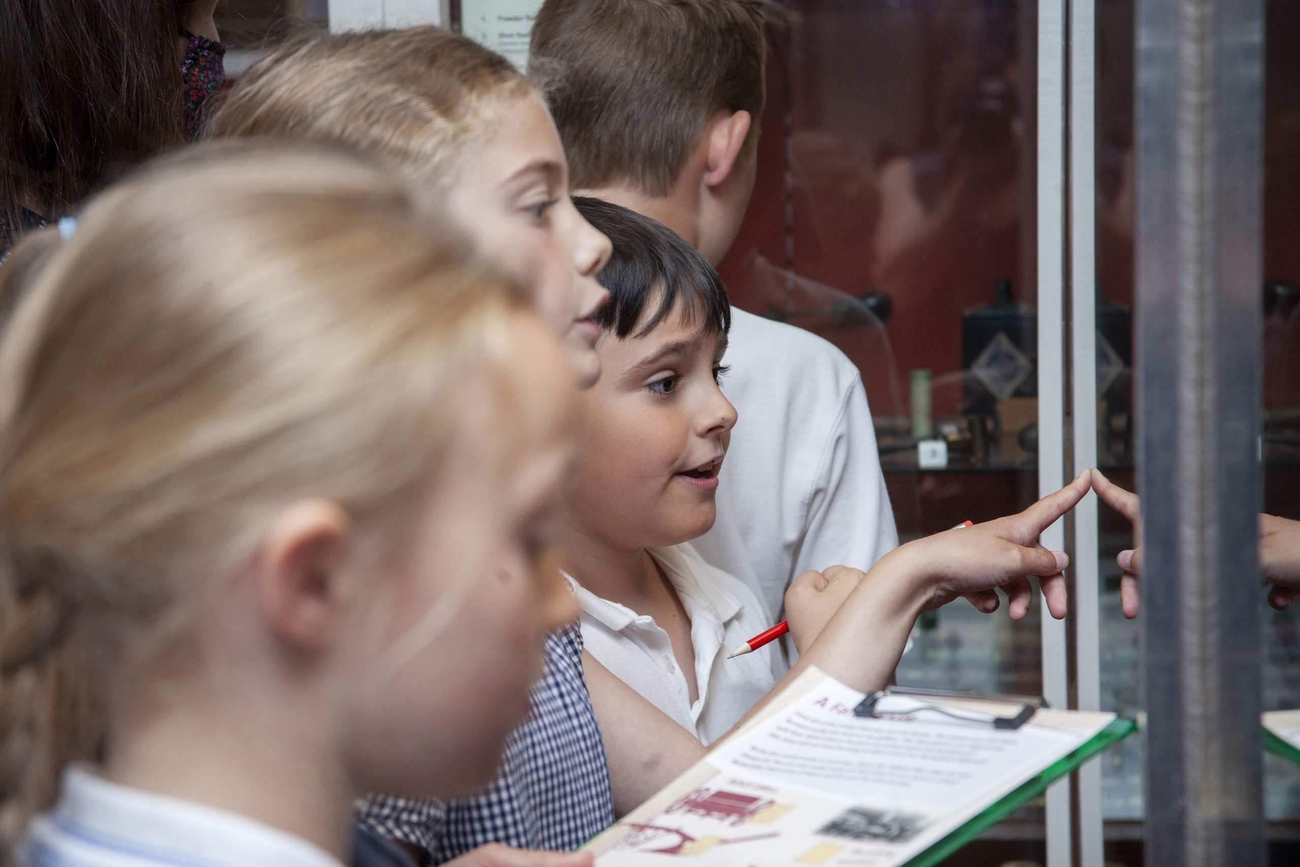 Children looking at a museum display