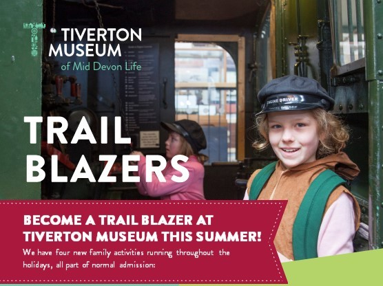 Poster for Trail Blazers activities at the museum