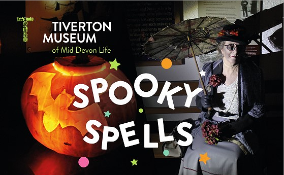 Poster for Spooky Spells event at the museum