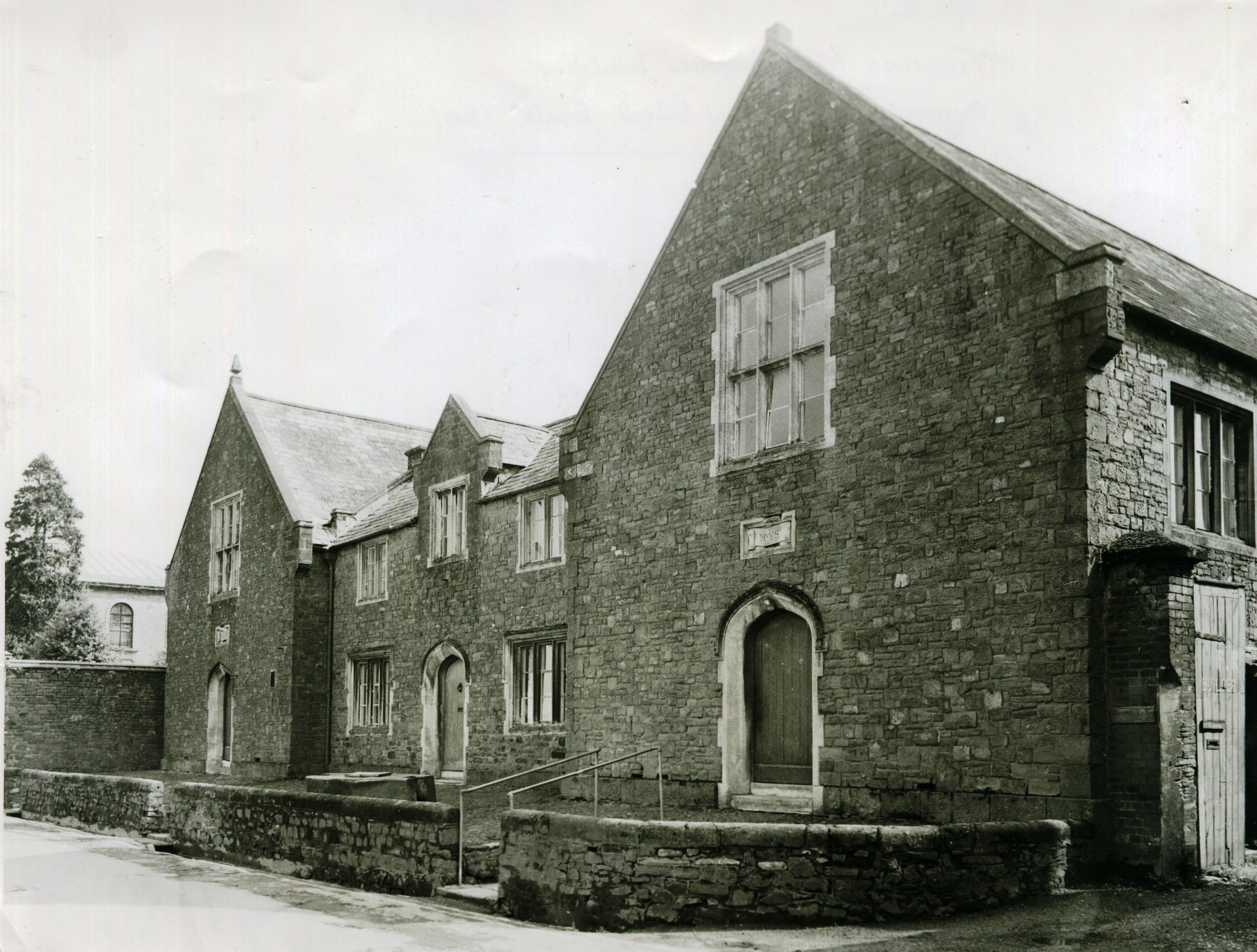 The National School building in Tiverton