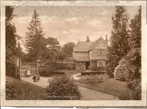 A postcard showing the Park keeper's House
